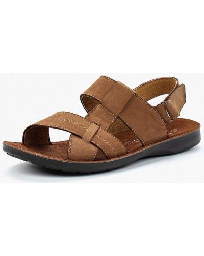 Коричневые сандалии кожаные Tesoro