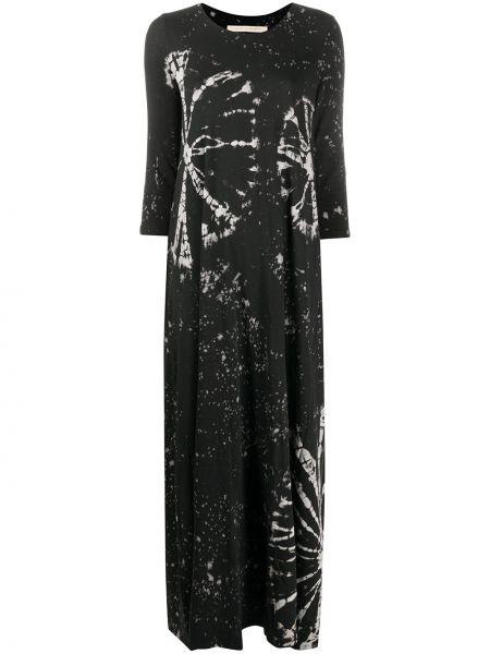 Платье макси трапеция с абстрактным принтом Raquel Allegra