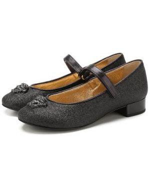 Туфли на каблуке с глиттером Versace