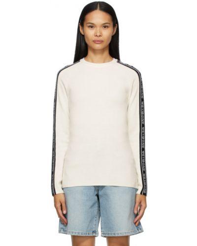 Czarny długi sweter wełniany z długimi rękawami We11done