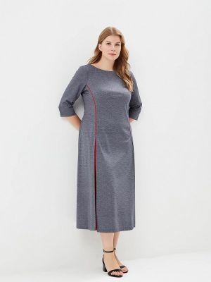 Прямое платье - серое Tantino