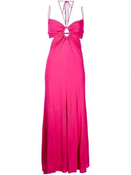 Шелковое платье макси - розовое Manning Cartell