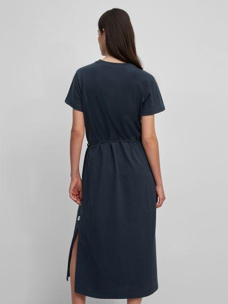 Синее платье мини с поясом с вырезом Marc O'polo Denim