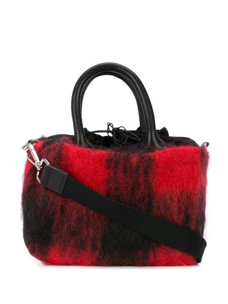 Красная сумка-тоут квадратная Muun
