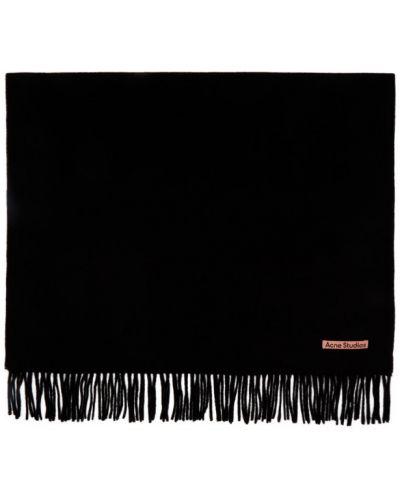 Przeciwtrądzikowy czarny szalik z łatami do twarzy Acne Studios