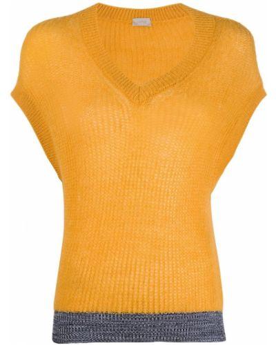 Джемпер из мохера без рукавов с V-образным вырезом Mrz