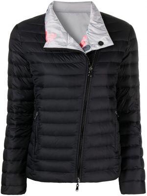 Пуховая черная длинная куртка двусторонняя Emporio Armani