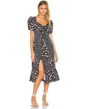 Платье миди на пуговицах на молнии For Love & Lemons