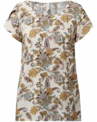 Beżowa bluzka krótki rękaw z wiskozy Soyaconcept