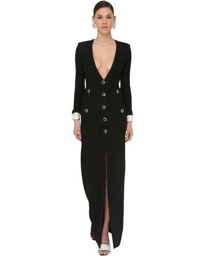 Платье на пуговицах с V-образным вырезом Alessandra Rich