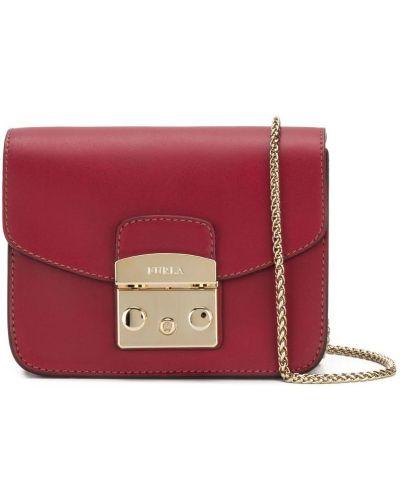 Маленькая сумка кожаный на плечо Furla