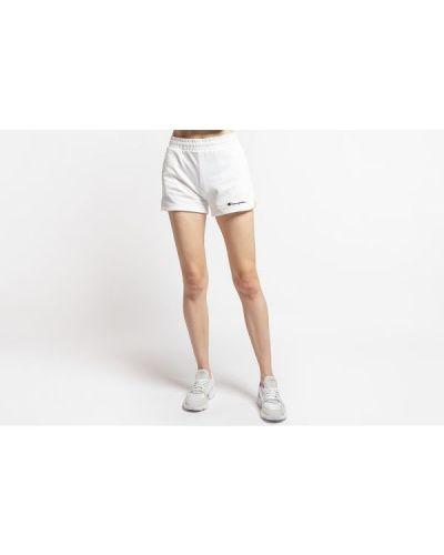 Białe krótkie szorty z wysokim stanem bawełniane Champion