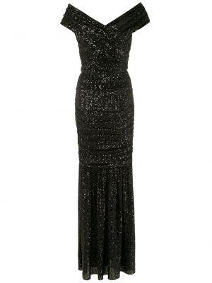 Платье макси длинное - черное Dolce & Gabbana