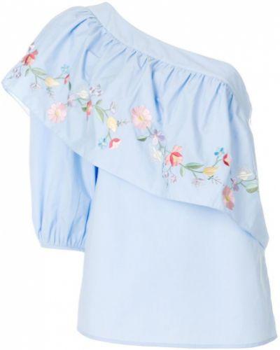 Блузка с вышивкой асимметричная Vilshenko