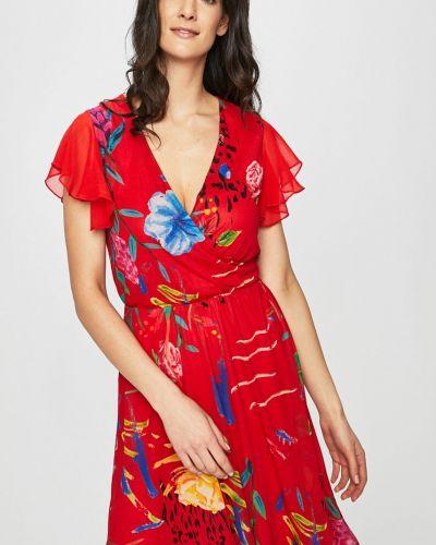 Платье мини с запахом из вискозы Desigual
