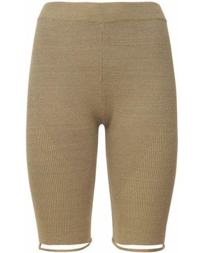 Бежевые шорты на резинке Jacquemus