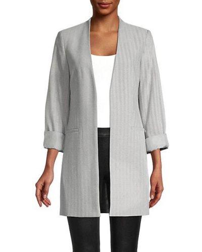 Длинная куртка с нашивками с подкладкой в полоску Calvin Klein