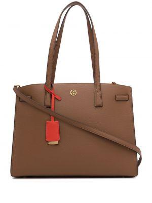 С ремешком коричневый кожаный сумка на плечо Tory Burch