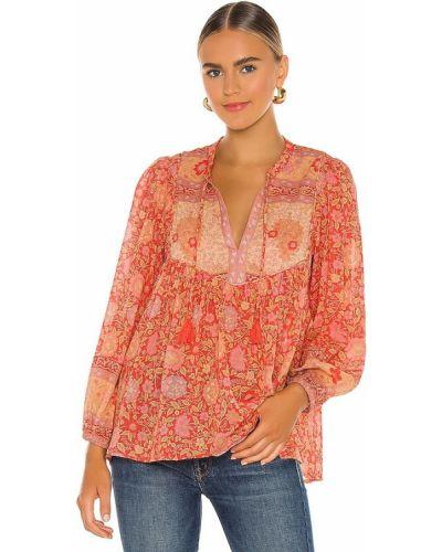 Czerwona bluzka bawełniana do pracy Spell & The Gypsy Collective