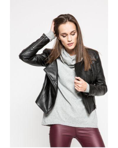 Джинсовая куртка кожаная с карманами Trussardi Jeans