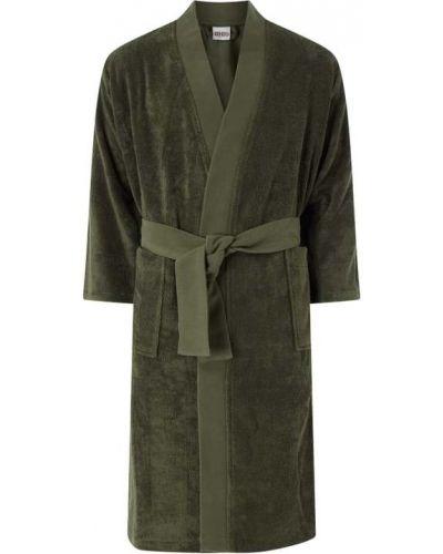 Szlafrok bawełniany - zielony Kenzo