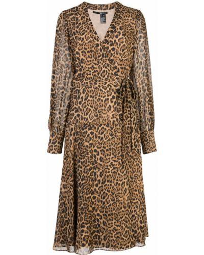Платье макси с запахом леопардовое Jay Godfrey