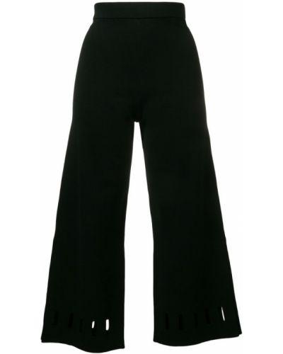 Черные укороченные брюки с поясом Dagmar
