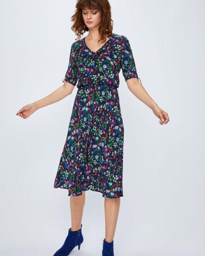 Платье миди с поясом из вискозы Medicine