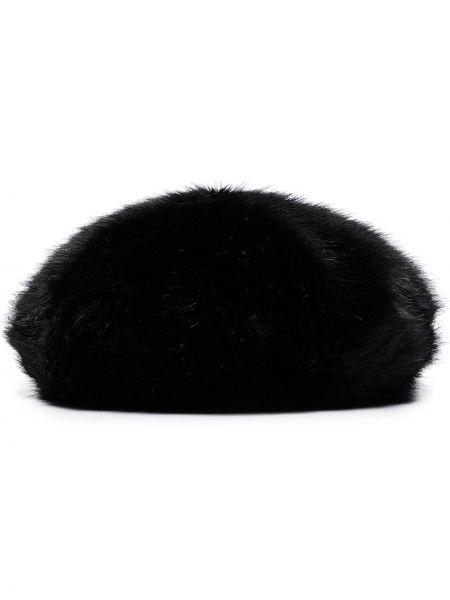 Czarny beret z akrylu Emma Brewin