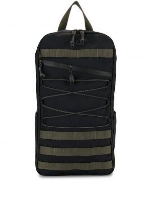 Черная нейлоновая сумка на плечо на молнии Makavelic
