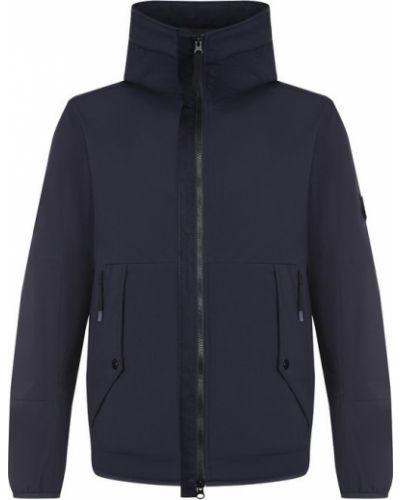 Куртка с капюшоном на молнии софтшелл Stone Island