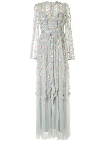 Платье макси длинное - серое Needle & Thread