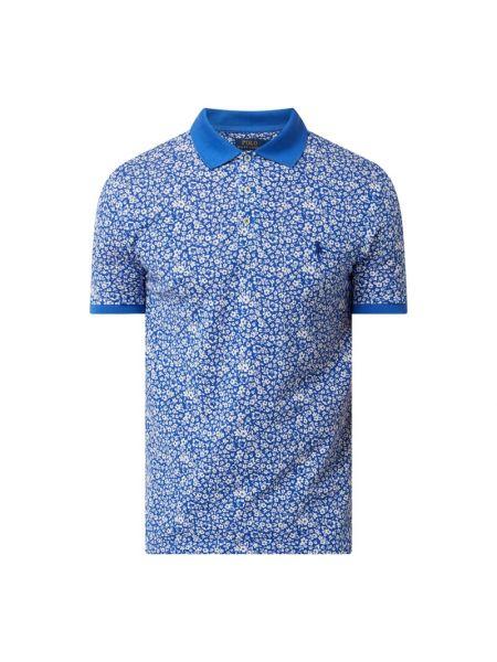 Bawełna niebieski bawełna t-shirt wąskie cięcie Polo Ralph Lauren
