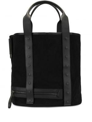 Черная нейлоновая сумка-тоут прямоугольная на молнии Discord Yohji Yamamoto