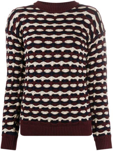 Фиолетовый вязаный длинный свитер круглый Victoria, Victoria Beckham