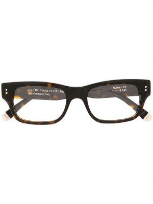 Солнцезащитные очки с логотипом - коричневые Retrosuperfuture