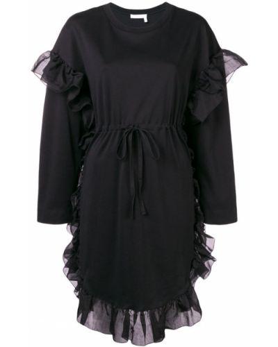 Платье с вырезом с длинными рукавами See By Chloé