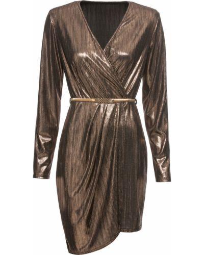 Коктейльное платье с запахом с поясом Bonprix