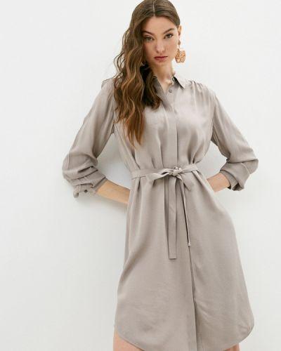 Бежевое платье-рубашка French Connection