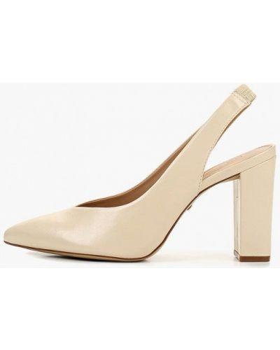 Туфли на каблуке кожаные с открытой пяткой Arezzo