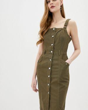 Зеленое джинсовое платье Softy