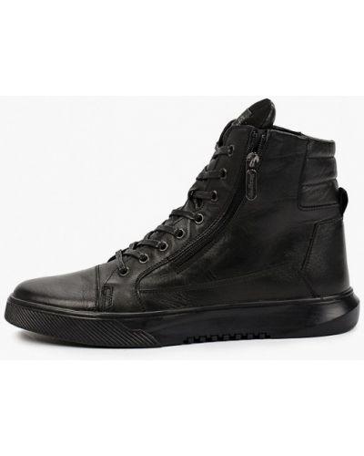 Черные кожаные ботинки Shoiberg