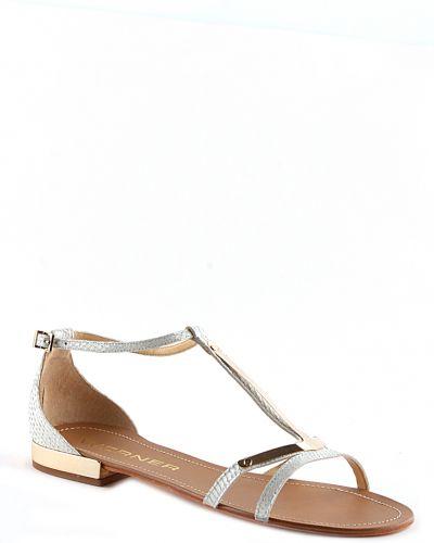 Бежевые сандалии на каблуке Werner