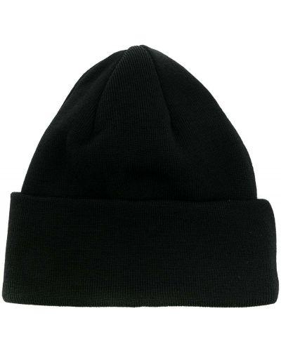Шерстяная тонкая черная шапка бини в рубчик A Kind Of Guise