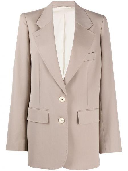 Шерстяной пиджак оверсайз с карманами Lemaire