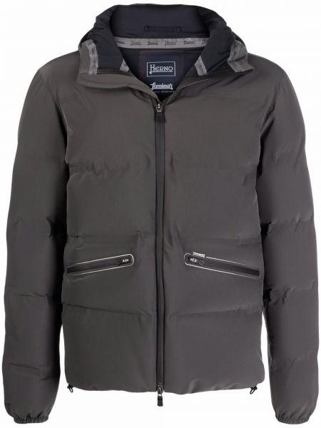 Куртка с капюшоном - серая Herno