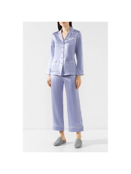 Пижама шелковая с рубашкой Olivia Von Halle