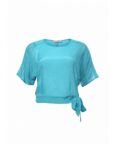 Бирюзовая блузка с коротким рукавом Svesta