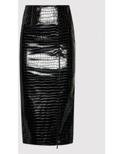 Czarna spódnica ołówkowa Rotate