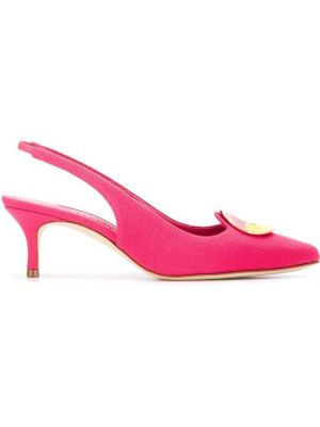 Мюли на каблуке розовый Manolo Blahnik